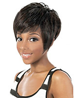 Cutly Wigs White Women European Synthetic Black Women Wigs Natural Color Short Wigs