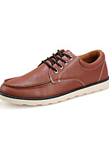 Men's Shoes Outdoor/Casual Leather Fashion Sneakers Black/Blue