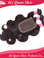 Ali Queen Hair Products 3Pcs 6A Brazilian Hair body wave With 1Pcs 4*4 Swiss Lace Closures 100% human hair