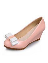 Women's Shoes Faux  Wedge Heel Round Toe/Closed Toe Pumps/Heels