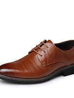 Men's Flats Spring / Summer / Fall Pointed Toe Leather Office & Career / Casual Low Heel Others