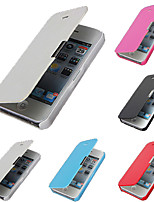 PU Leather & PC Cover Case for iPhone 5C
