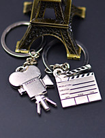 Exquisite Making Movies Camera Stainless Steel Couple Keychain (1 Pair)