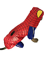Red Waterproof Spider Man Cotton Large RainCoat For Big Dogs