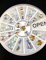 W112 36pcs/Set Lurxury Super Flash Flat back Glitter Glasses Diamond DIY Nail Art Decoration in Wedding Party