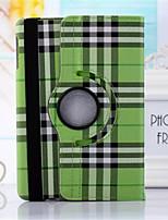 360⁰ Cases/Couvertures intelligents (Cuir PU , Vert/Bleu/Incarnadin/Beige) - Motif carreaux pour Pomme iPad 2/iPad 4/iPad 3