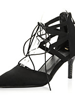 Women's Shoes Stiletto Heel Pointed Toe Pumps Dress with Lace-up