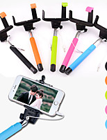 df pôle câble prise Selfie extensible poche porte monopode bâton pour l'iphone 5 / 5s / 6 (couleurs assorties)