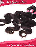 ali koningin haarproducten 6a brazilian maagd haar body wave natuurlijke zwart haar 3pcs / lot 100% human hair extensions