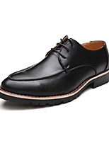 Men's Shoes Casual Leather Oxfords Black/Brown/Burgundy