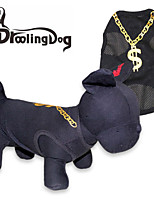 DroolingDog® Cool Gold Necklace Pattern Polyester Vest for Dogs (Assorted  Sizes)