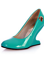 Women's Shoes Translucent Heel Wedges / Novelty Heels Party & Evening Black / Blue / Green / Pink / Red