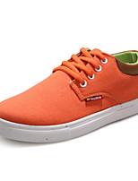Zapatos de mujer Tela Tacón Plano Comfort/Punta Redonda/Punta Cerrada Sneakers a la Moda Casual Azul/Rojo/Naranja