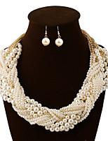 Women's Fashion Pearl Woven  Jewelry Sets