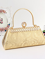Women PU / Metal Minaudiere Tote / Clutch / Evening Bag / Wristlet-Gold