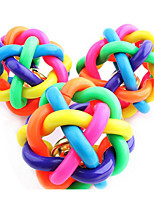 Colorful Squeaking Twist Ball Toy for Dogs,Cats(6.5cm)