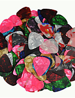 Thin 0.46mm Guitar Picks Plectrums Celluloid Assorted Colors 100Pcs-Pack