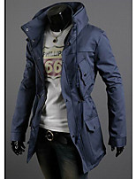 Men's Long Sleeve Jacket , Cotton Blend Casual/Work/Formal Pure