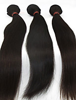3Pcs Lot Cheapest Malaysian Virgin Long Wavy Human Remy Straight Hair Remy Weave Curly Hair Extension