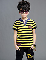 Boy's Casual/Daily Striped Clothing Set,Cotton Summer Blue / Red / Yellow