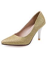Chaussures Femme-Mariage / Bureau & Travail / Habillé / Décontracté-Rouge / Argent / Or-Talon Aiguille-Talons-Talons-PVC / Similicuir