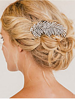 Vintage Wedding Party Bridal Bridesmaid Crystal Leaf Bridal Hair Comb 1pcs