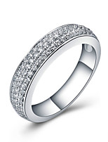 Never Tarnish 925 Silver Solid 3Lines Micro Paved Wedding Band Ring for Women Semi Mount SONA Diamond Platinum Plated