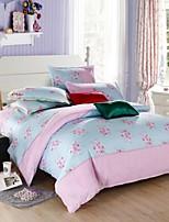 Pink/Light Blue Polyester King Duvet Cover Sets