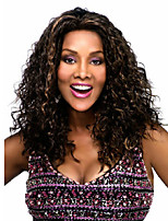 Europe And The United States Synthetic Women Wigs Brown Color Curly Wig With The Points Bang