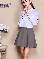 LOCHIRY®Women's Vintage/Casual/Cute Micro-elastic Thin Above Knee Skirts (Spandex/Polyester)