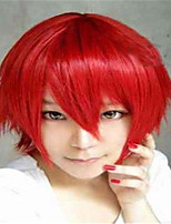The New Cartoon Color Wig  Red Face  Short Straight Hair Wigs