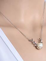 Vintage/Casual Alloy/Imitation Pearl Pendant Necklace