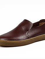 Men's Shoes Office & Career / Casual Leather Slip-on Black / Brown / Green