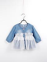Girl's Casual/Daily Floral DressAcrylic All Seasons Blue