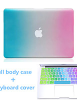 High Quality Gradient Color Hard Full Body Case and TPU Keyboard Cover for Macbook Air 13.3 inch