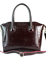 Contracted Patent Leather Handbag