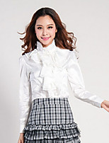 Women's Bodycon/Work Stand Long Sleeve Tops & Blouses (Polyester)