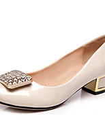 Women's Shoes Chunky Heel Heels/Platform/Round Toe/Closed Toe Pumps/Heels Casual Black/Beige