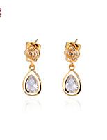 KuNiu Women's  Classic 18K Gold Plated  Fashion Water Earrings ERZ0021