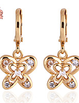KuNiu Women's Vintage 18K Gold Plated  Butterfly Drop Earrings ER0186