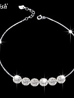 Cute/Party/Work/Casual Sterling Silver/Cubic Zirconia Charm Bracelet
