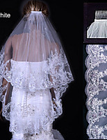 Wedding Veil Two-tier Fingertip Veils