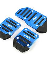 aluminium skid bil gaspedal bromspedalen pedaler som lämpar sig för manuell bil (blandade färger)