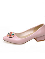 Women's Shoes Low Heel Heels/Pointed Toe/Closed Toe Pumps/Heels Outdoor/Office & Career/Casual Blue/Pink/White