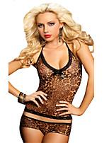 Hot Sexy Set Women's Lingerie Leopard Bandage Slim Babydoll Underwear Nightwear 7316
