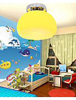Flush Mount LED 1 Lights Contracted Contemporary /Bedroom/Dining Room/Kids Room Metal with Lemon Appearance