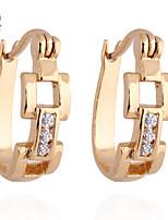 KuNiu Women's Vintage 18K Gold Plated Geometric Shape Earrings ER0183