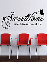 Wall Stickers Wall Decals Style Sweet Home English Words & Quotes PVC Wall Stickers