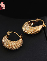 KuNiu Women's Classic 18K Gold Plated Hoop Earrings ER0180