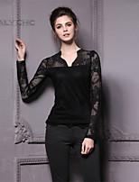 Women's Black Blouse Long Sleeve